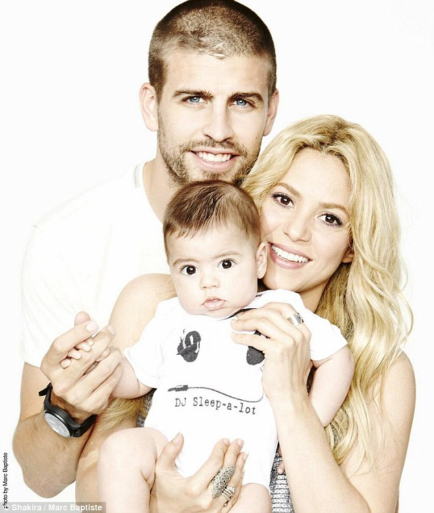 Meet the family: Shakira and Gerard welcomed their first child around seven months ago