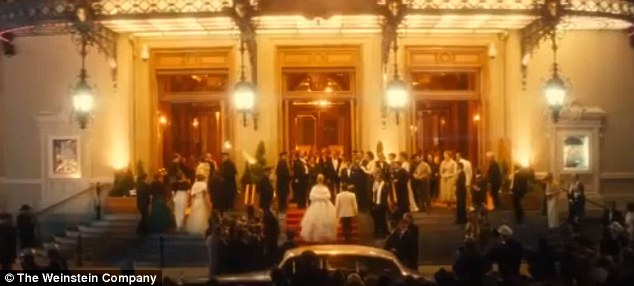 Life's a ball: A clip from the trailer shows Nicole as Grace walking up the stairs to a black tie function
