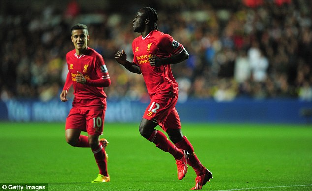 Off the mark: Chelsea loanee Victor Moses struck on his debut for Liverpool