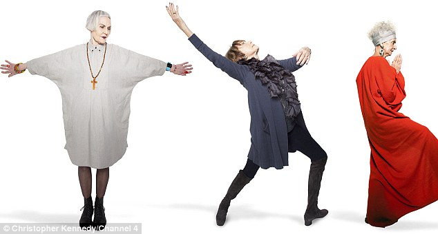 Looking good: Jean Woods, Gillian Lynne and Bridget Sojourner show how to pose like you mean it