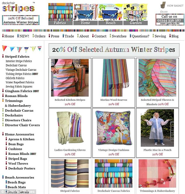 Deckchair Stripes sell an array of upholstering materials and fabrics as well as cushions and scarves
