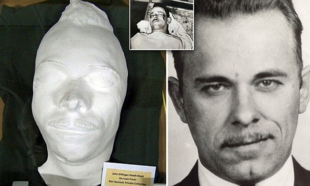 Death Mask Of Ruthless 1930s Gangster Dillinger On Display