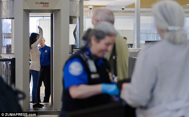 Safety first: Airport-screening staff will remain at work during the shutdown with safety being a top priority
