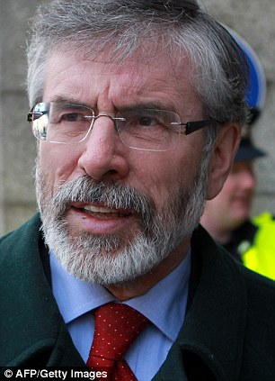 Family: Sinn Fein President Gerry Adams had confronted his brother about abuse in 1987 and threatened to hit him with a hammer
