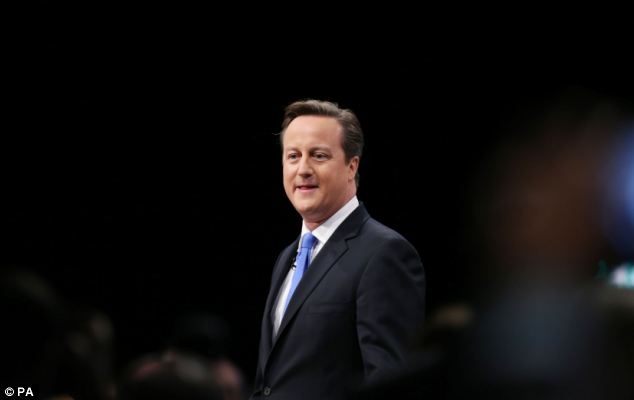 Opportunity: The Tory leader said everyone should be given the chance to make it in life