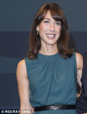 Samantha Cameron was in the audience to hear her husband's big speech before joining him on stage