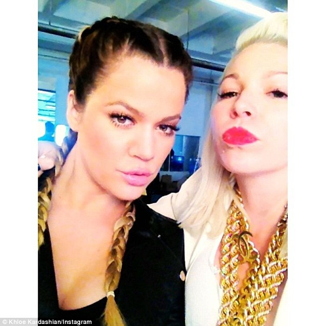 'Ain't no holla back guuuuuurrrrllllllssss': She also pouted up a storm with make-up artist and friend Joyce Bonelli in this selfie