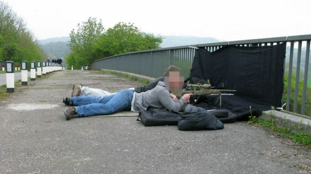 Startling: The photograph of the marksmen found on Soldier N's computer
