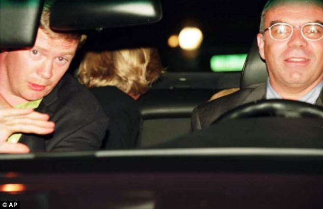Last photo: Diana, driver Henri Paul and bodyguard Trevor Rees in her car moments before it crashed in Paris