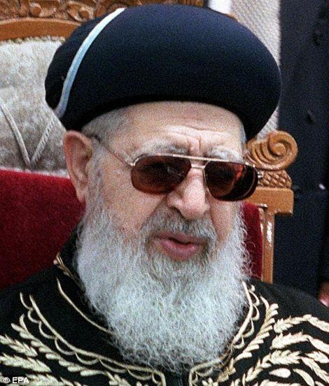 Rabbin Ovadia Yossef a créé le parti Shass orthodoxe à soutenir les droits des Juifs du Moyen-Orient