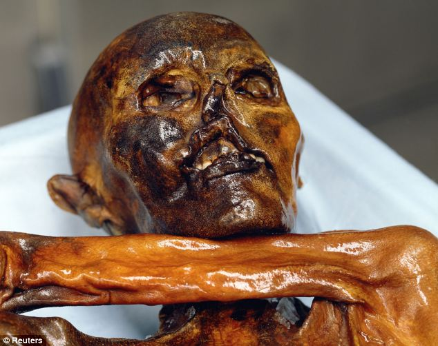 Descendants: Scientists have found 19 living relatives of Ötzi the Iceman who was found frozen in the Alps
