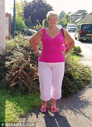 Natalie pictured this year, weighing 13 stone 11lb