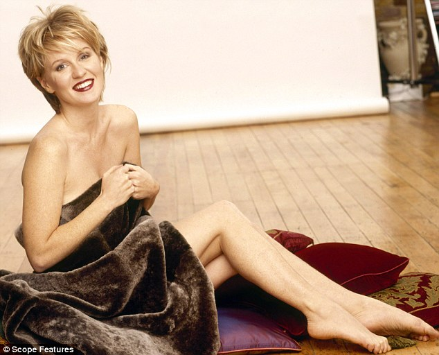 In the past: Former GMTV presented McVey might want to forget these saucy snaps
