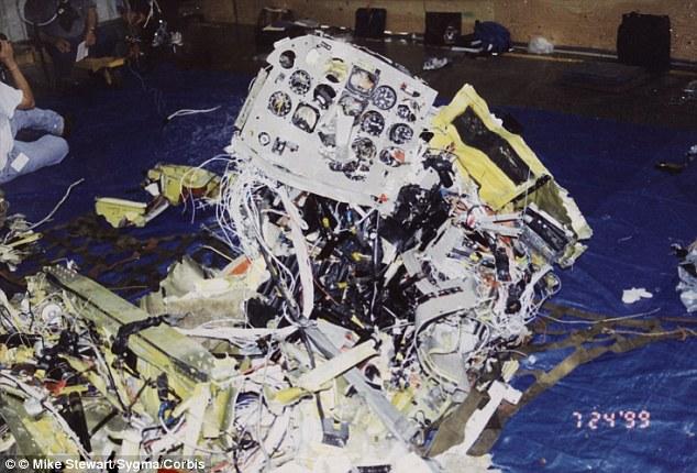 Image result for jfk jr plane crash wreckage
