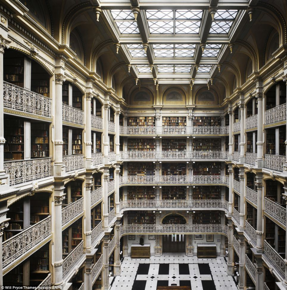 A bookworm's dream: Even the most ardent reader would struggle to get through the six storeys of books kept at the George Peabody Library, Baltimore, United States of America