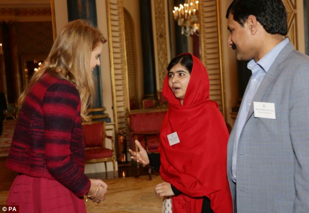 Impressed: Beatrice also told Malala her mother Sarah, Duchess of York, would like to meet the teenager