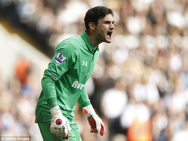 Man in charge: Hugo Lloris says he commands his penalty area