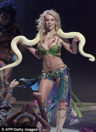 Her big year: 2001 was a highlight in the singer's career, pictured at the MTV VMAs