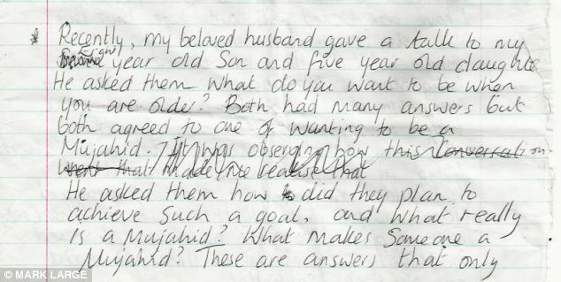 The diary found in one of Samantha Lewthwaite's houses in Mombasa, before she fled in December 2011