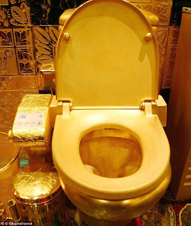 Image result for Kim Kardashian's Gold Loo