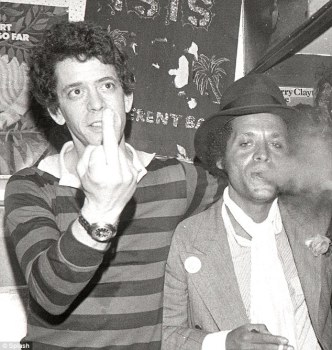 Wild side: Lou Reed pictured with singer-songwriter Garland Jeffries in New York, 1977