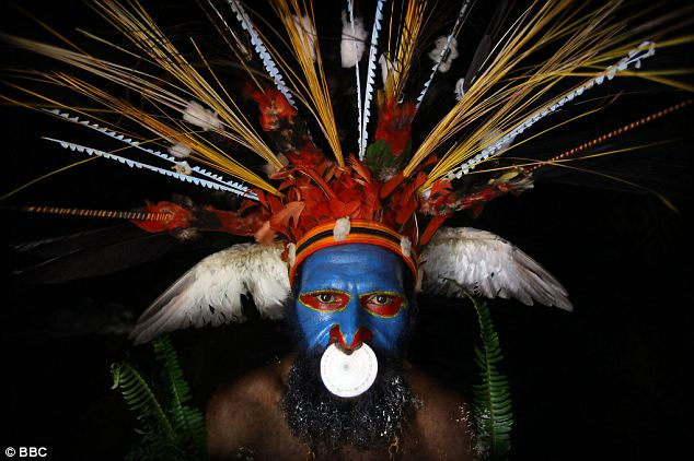 Sorcery: A Papua New Guinea tribesman in traditional dress. Sorcery is widespread in remote villages in the country and the government has recently introduced tough new laws to deal with it
