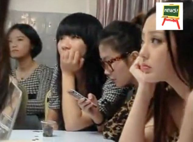 The small class of around ten girls listen attentively as she goes on to stress that they should maintain contact with higher-level customers