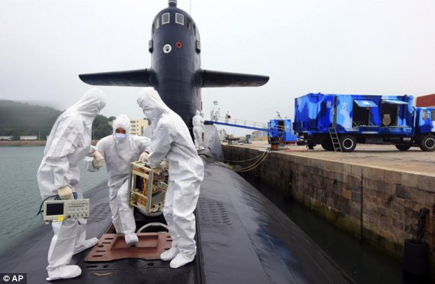 Performance: Seamen performed a number of displays on the nuclear-armed submarines, including transporting specialist equipment on the vessels