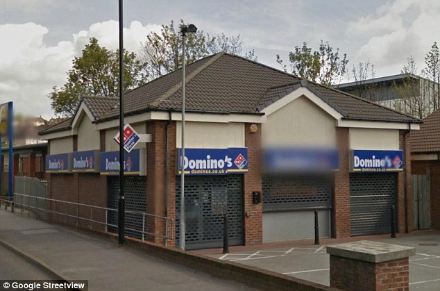 The Domino's pizza takeaway where Mr Peiris worked on the night that he was found stabbed in his car