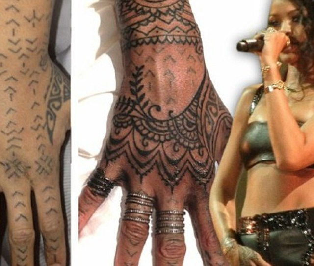 Rihanna Flies Her Tattoo Artists  Miles To Spend  Hours Making Her New Zealand Tribal Art Work Pretty Daily Mail Online