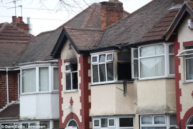 Inayat poured gallons of petrol over his family home in Springfield, Birmingham, and set it alight