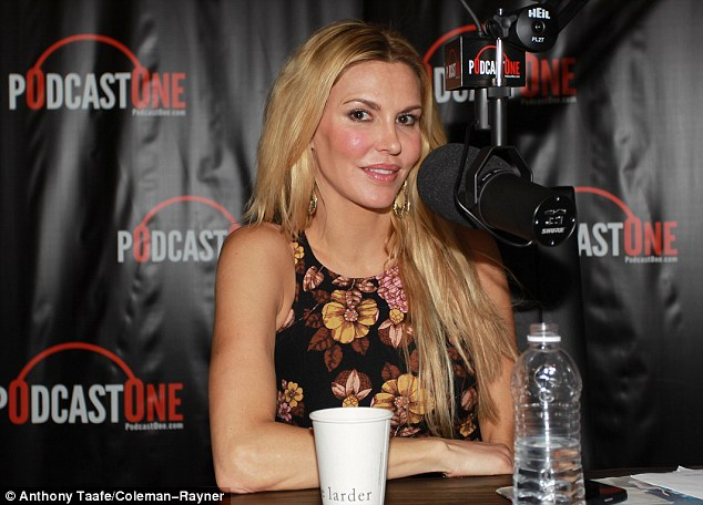 Keeping busy: Meanwhile, Eddie's ex Brandi Glanville launched her podcast 'Brandi Glanville Unfiltered' on Wednesday