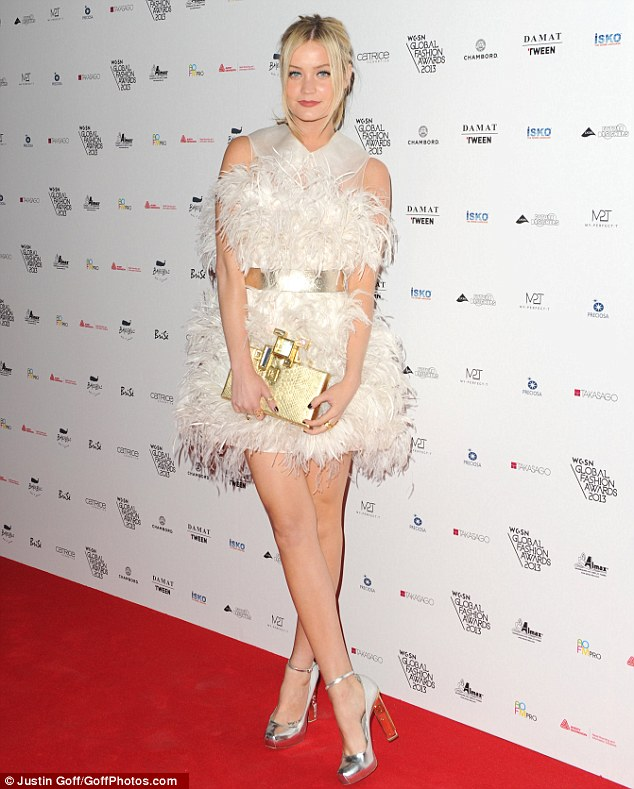 Amber Le Bon Wows In White Webbed Dress And Stylish Top
