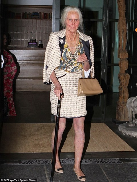 Early bird special: Halloween enthusiast Heidi Klum transformed into a wrinkled old lady thanks to an Oscar-winning make-up team for her 14th annual Halloween bash Thursday