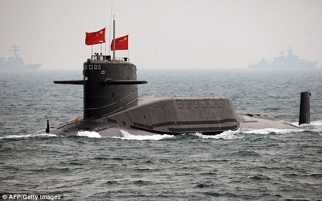 Deterrent: China's state-run media has reported that it now has subs capable of launching nuclear weapons at the United States