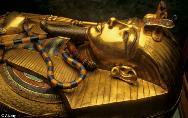 Fire: Tutankhamun burst into flame inside his sarcophagus because of a chemical reaction from the chemicals he was embalmed with