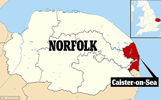 The humpback whale was spotted of Caiste-on-Sea in Norfolk