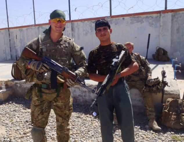 Corporal Brent McCarthy of McCarthy with a rogue Afghan policemen suspected of shooting dead him and L/Cpl Lee Davies, 1st Battalion Welsh Guards