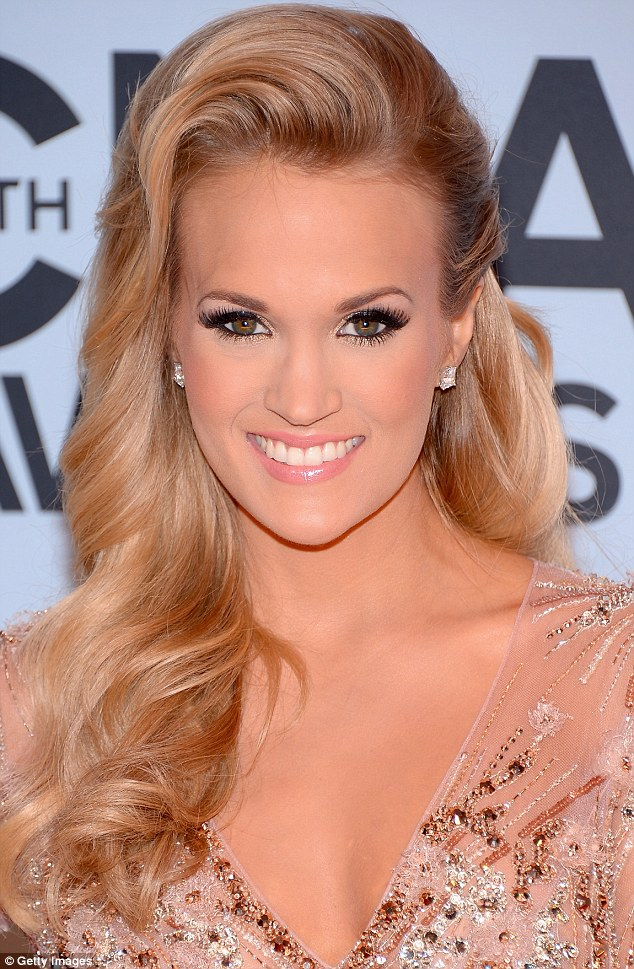 Flawless: Carrie Underwood attends the 47th annual CMA Awards at the Bridgestone Arena on Wednesday