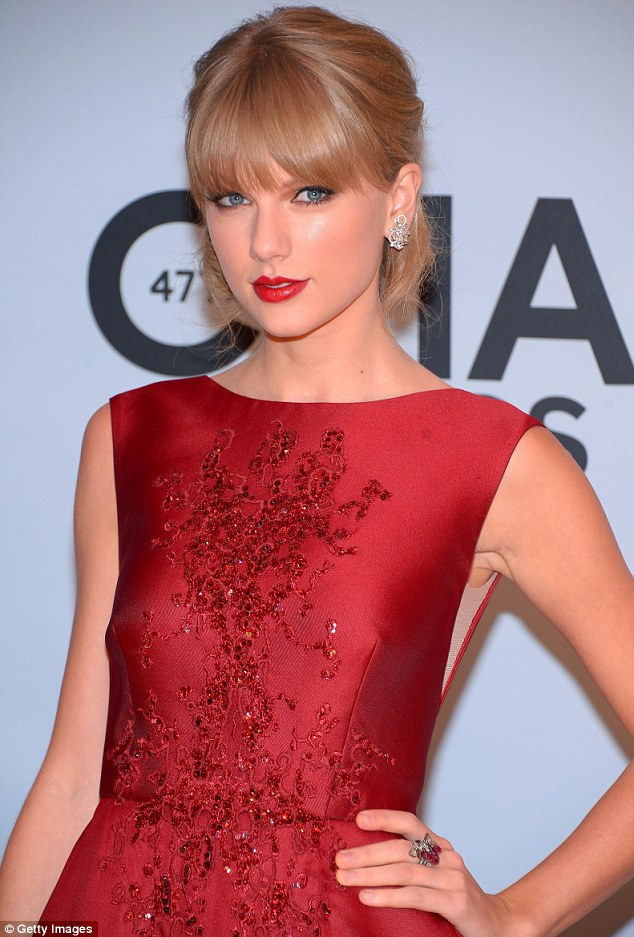 Painting the town RED: Taylor Swift already one award in the bag before she arrived at the bash, so no wonder she was dressed to impress