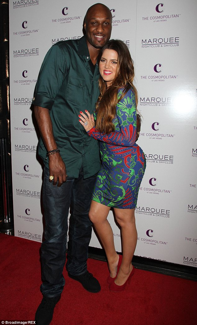 Happier times: Lamar and Khloe tied the knot after just one month of dating in 2009