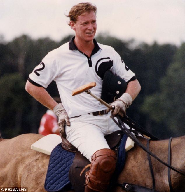 High life: Hewitt at the Royal Berkshire Polo Club in 1991