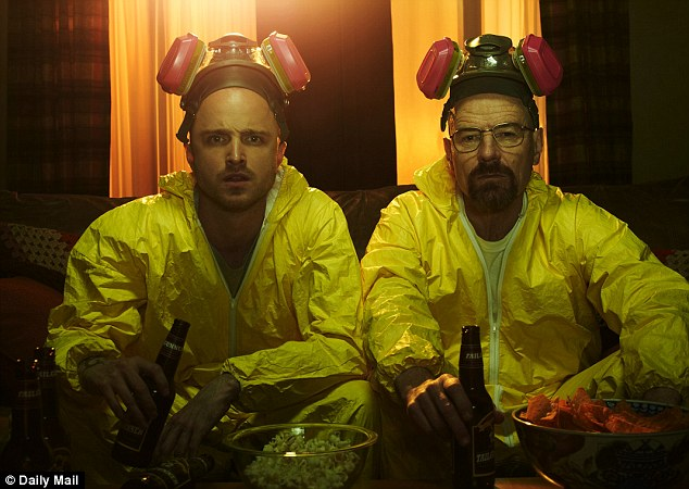 Aaron Paul (left) and Bryan Cranston (right) star in Breaking Bad. The show has brought crystal meth into the public consciouness