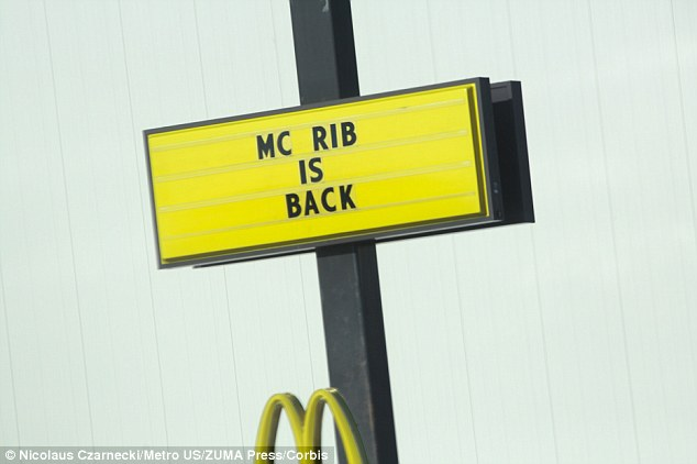 Classic: The 1980s menu option is being offered for a limited time at McDonalds restaurants