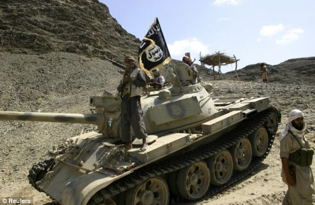 Ansar al-Sharia, an al Qaeda-affiliated group, has tanks, rocket launchers, and other heavy weapons at their disposal throughout the Arab world. This image was captured in southern Yemen on April 28, 2012