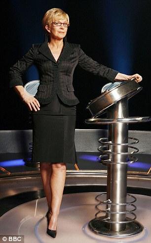 Not allowed: Miss Wood won't let him watch The Weakest Link 'in case he fancies Anne Robinson'