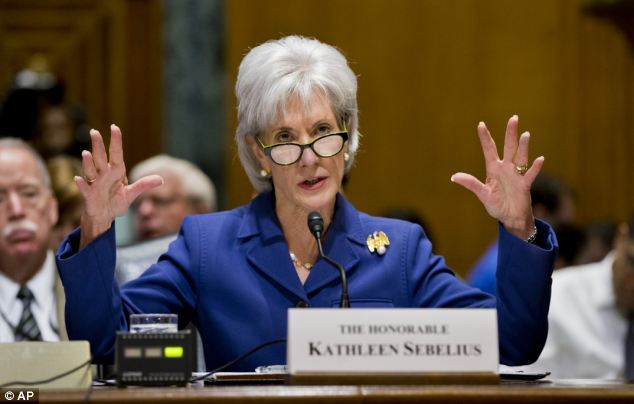 Savings THIS big: Health and Human Services Secretary Kathleen Sebelius has been Obama's most visible public Obamacare defender, but she will face new questions about consumer choice and insurance price tags