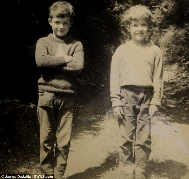 Rex and Kevin Wilton pictured just four years before being sent to Tazmania in 1970. Rex was 11 while Kevin was just nine when they left Britain