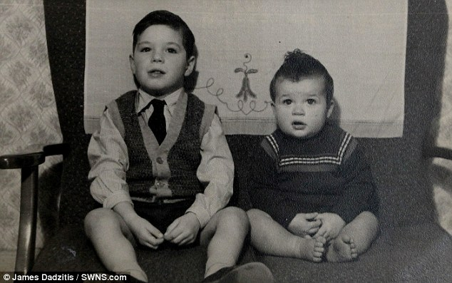 Bruce and Kevin Wilton pictured in 1962. After finding brother Rex, Bruce tracked down their youngest sibling in New South Wales last year
