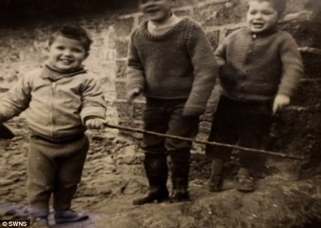 Kevin, Bruce and Rex as children in their Cornwall home. Bruce was just seven when the boys were taken into care by a foster family in the UK